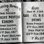 EDKINS Robert Moffat ashes of EDKINS Marian Clarrissa